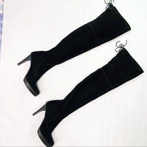 Stuart Weitzman All Legs Velvet Thigh High Boots
